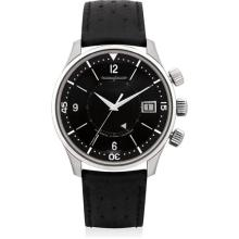 JAEGER LECOULTRE - A fine and rare stainless steel limited edition wristwatch with sweep centre seconds, date and alarm, made for the Paris boutique, Circa 2008