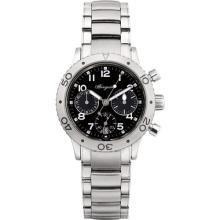 BREGUET - A lady's stainless steel chronograph wristwatch with date and bracelet, Circa 2001