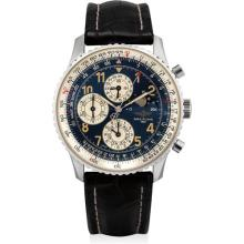 BREITLING - A stainless steel limited edition perpetual calendar chronograph wristwatch with moon phases, Circa 1999