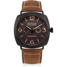 PANERAI - A fine composite limited edition cushion-shaped 8 day power reserve wristwatch, 2010
