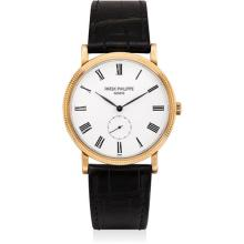 PATEK PHILIPPE - A fine pink gold wristwatch, 2011