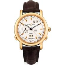 ULYSSE NARDIN - A fine pink gold limited edition perpetual calendar dual time wristwatch, Circa 2003