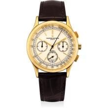 VACHERON CONSTANTIN - A fine yellow gold chronograph wristwatch with date, Circa 1995