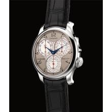 F.P. JOURNE - A very fine and rare platium chronograph wristwatch with 100th of a second, 20-second and 10-minute registers, Circa 2013
