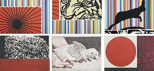 Círculo rojo; Tigre con conejo and Untitled, 2006