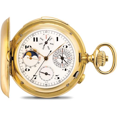 Year Calendar Repeats : Swiss a fine yellow gold hunter case minute repeating perp