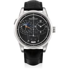 JAEGER LECOULTRE - A fine and rare white gold limited edition wristwatch with sweep centre seconds, date, moon phases, power reserve and 1/6th of a second indicator, Circa 2012