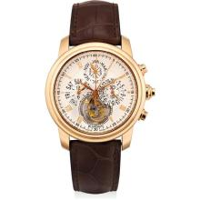 BLANCPAIN - A fine pink gold limited edition tourbillon perpetual calendar split seconds flyback chronograph wristwatch with leap year indicator, Circa 1999