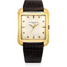 VACHERON CONSTANTIN - A fine and rare yellow gold oversized wristwatch with sweep centre seconds, 1953