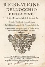 Buonanni Filippo. Ricreatione dell'occhio e della mente nell'osservation' delle chiocciole, proposta a' curiosi delle opere della natura... 1681.