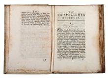 Azzoguidi Germano. La Spezieria domestica... Edizione terza. In Venezia: Nella Stamperia Graziosi, 1790.