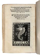 Burchiello. Esonecti del Burchiello fiorentino: stampati dinuouo & ricorretti.. (Al colophon): [Firenze]: ad petitione di Bernardo di ser Piero Pacini da Pescia, 1514.