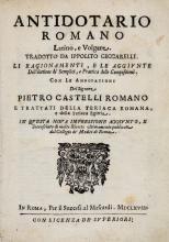 Collegio dei Medici (Roma). Antidotario romano latino, e volgare... In Roma: per il success. al Mascardi, 1668.