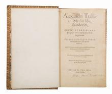 Alexander Trallianus. Alexandri Tralliani medici Libri duodecim, Graeci et Latini... Basileae: Per Henricum Petrum, 1556
