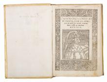 Alighieri Dante. L'Amoroso Convivio di Dante, con la additione, & molti suoi notandi, accuratamente revisto & emendato. (Al colophon:) Impresso in Vinegia: per Nicolo di Aristotele detto Zoppino, 1529