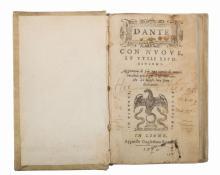 Alighieri Dante. Dante con nuove et utili ispositioni. Aggiuntovi di più una tavola... In Lione: Appresso Guglielmo Rouillio, 1575