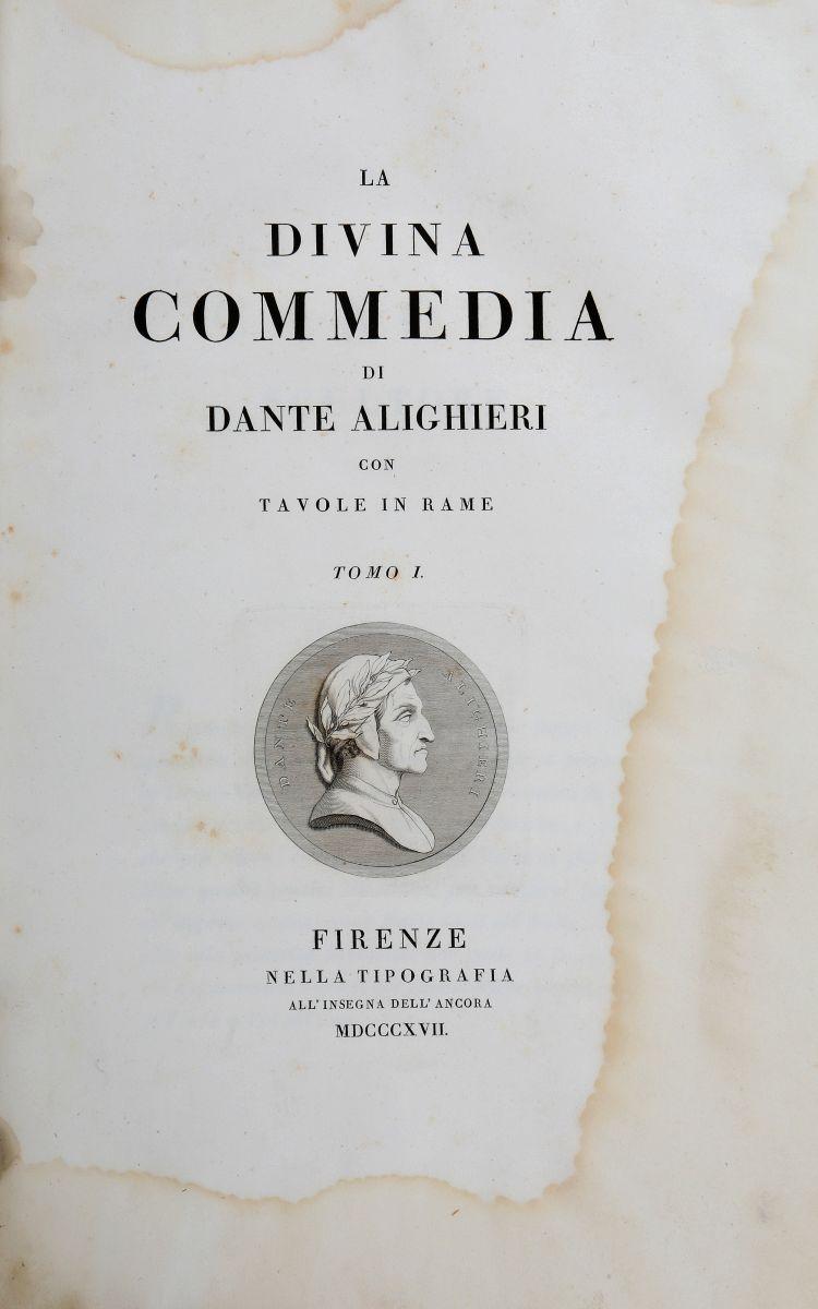 Alighieri Dante. La Divina Commedia... Firenze: Tipografia all'Insegna dell'Ancora, 1817-1819