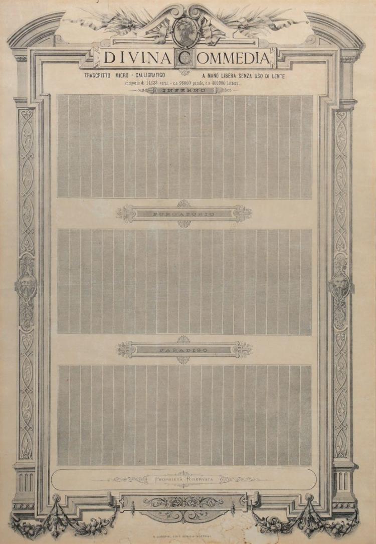 Alighieri Dante. Divina Commedia... Gorizia: G. Cossovoel, 1888