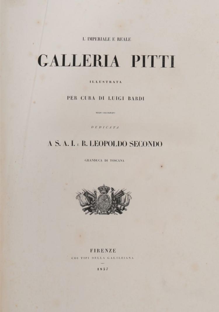 Bardi Luigi. L'Imperiale e Reale Galleria Pitti illustrata... Firenze: Coi tipi della Galileiana, 1837-1842