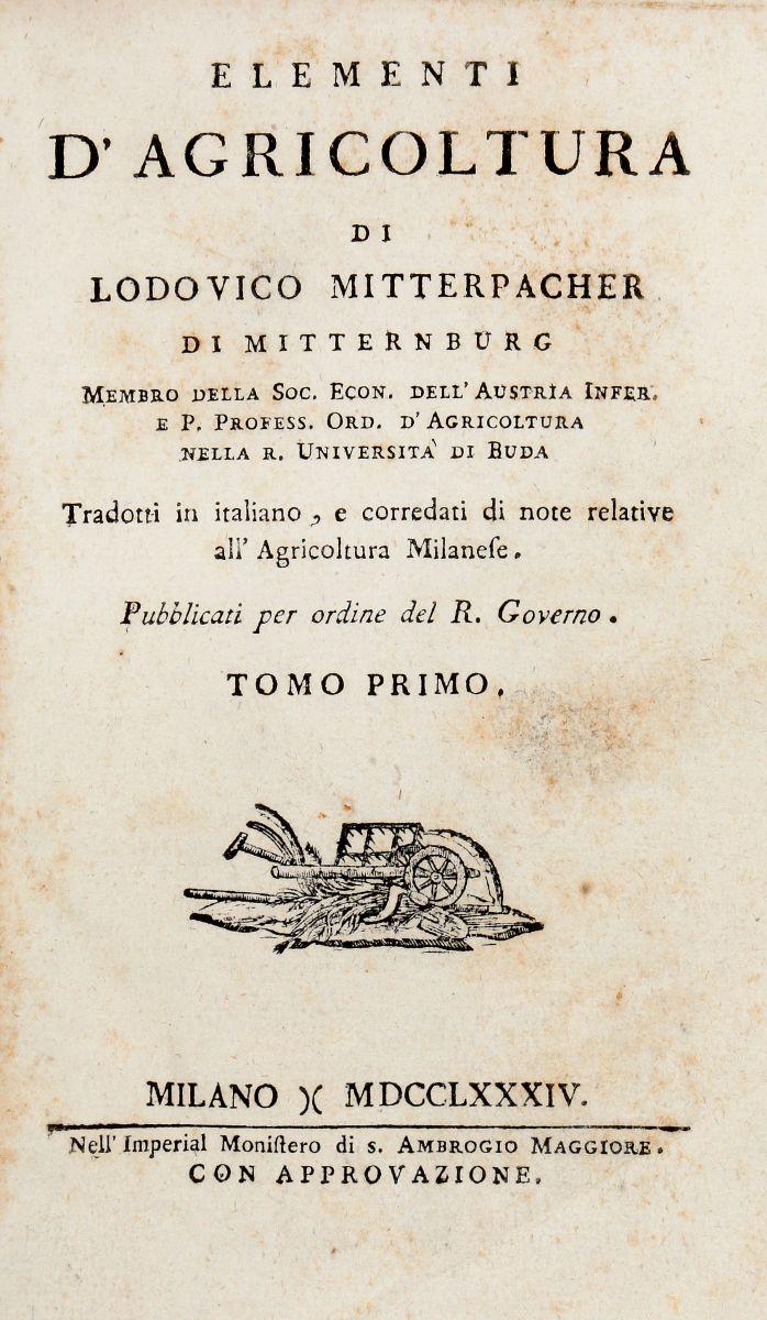 Bergman Torbern. Opuscoli Chimici e Fisici... Tomo Primo [-Secondo]. Firenze: Per Giuseppe Tofani, 1787