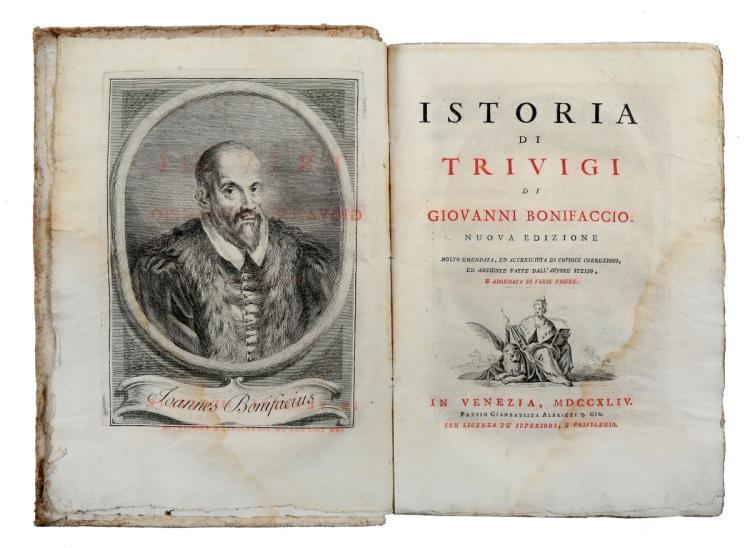 Bonifacio Giovanni. Istoria di Trivigi... nuova edizione molto emendata... In Venezia: Presso Giambattista Albrizzi, 1744