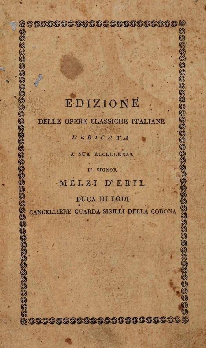 Classici Italiani. Classici italiani... Milano: dalla Società tipografica de' Classici italiani, [1802-1839]