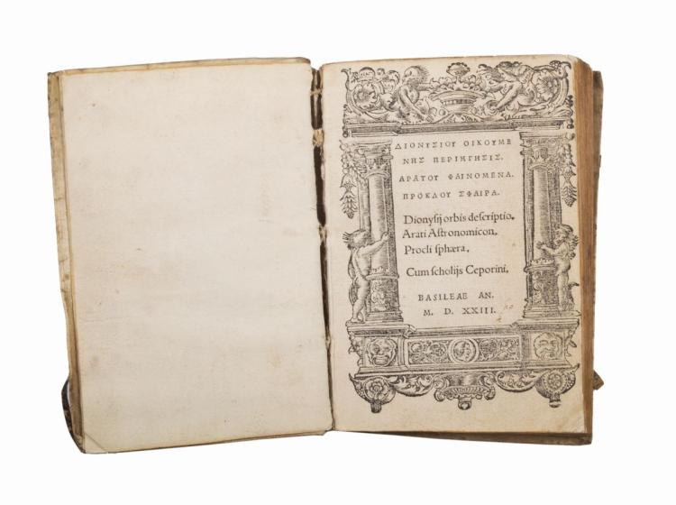 Dionysius Periegetes. Dionysiou Oikoumenes periegesis. Aratou Phainomena. Proklou Sphaira... Basileae: Ioannem Bebelium, 1523