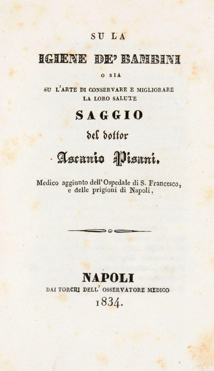 Fodéré François Emmanuel. Trattato di medicina legale e d'igiene pubblica o di polizia di sanità...Napoli: dalla Stamperia della Società Tipografica, 1819-1830