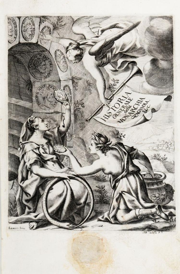 Giustiniani Bernardo. Historia generale della Monarchia Spagnuola... Venezia: Presso Combi, & LaNoù, 1674