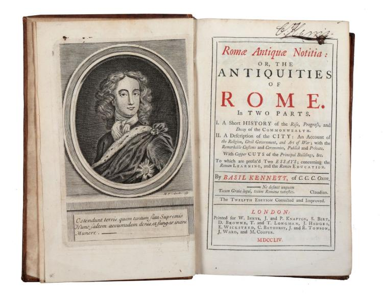 Kennet Basil. Romae Antiquae Notitia... London: Printed for W. Innys, J. and P. Knapton, 1754