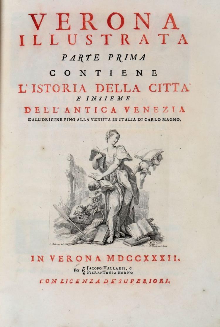 Maffei Scipione. Verona illustrata parte prima [-quarta]... In Verona: Per Jacopo Vallarsi e Pierantonio Berno, 1731-1732
