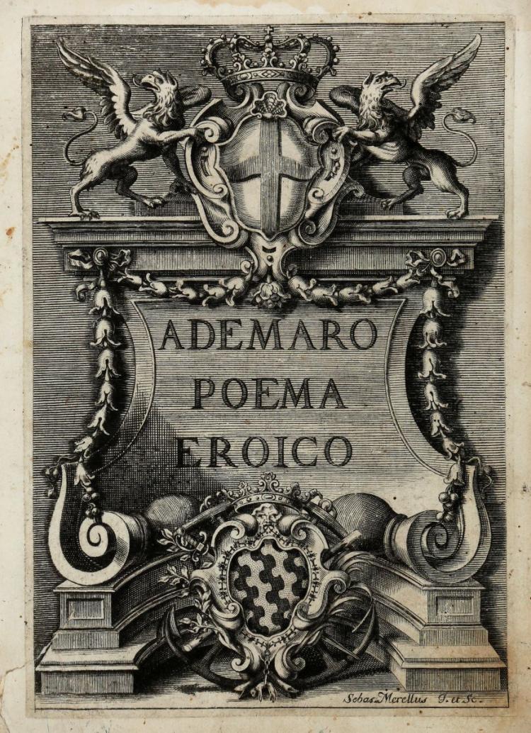 Merea Giovanni Battista. Ademaro ovvero Corsica liberata... In Lucca: per Salvatore e Giandom. Marescandoli, 1723
