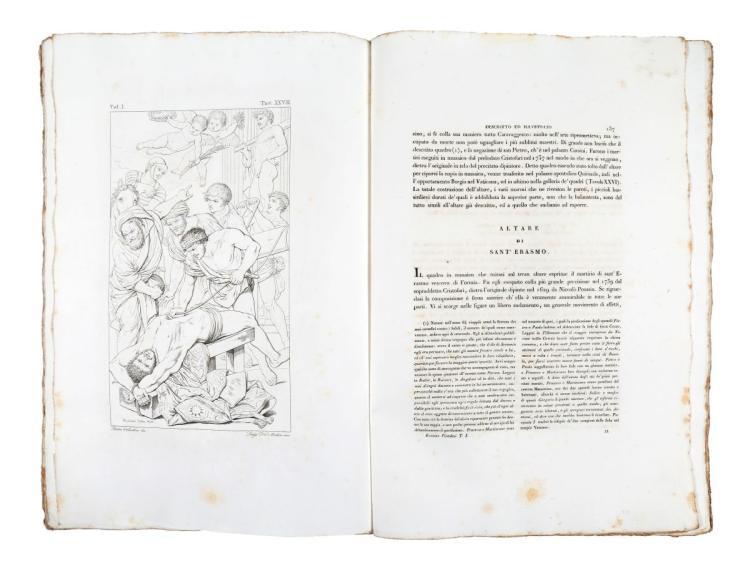 Pistolesi Erasmo. Il Vaticano descritto ed illustrato...Volume I [-VIII]. Roma: Tipografia della società editrice, 1829 -1838