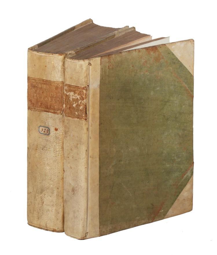 Plutarchus. Vite... De gli huomini illustri greci et romani.. Parte Prima [-Seconda]. In Venetia: Appresso Felice Valgrisio, 1582