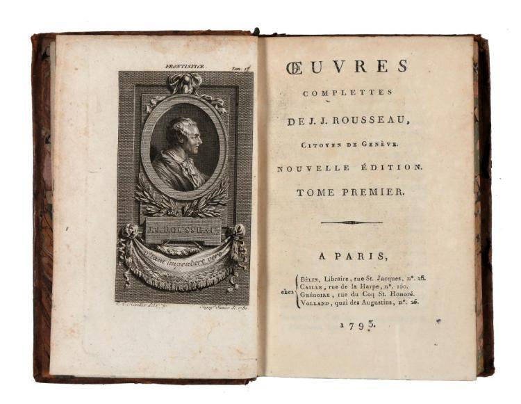 Rousseau Jean-Jacques. Oeuvres complettes... Tome Premier [-Trente-Septiéme]. A Paris: chez Bèlin, Caille, Grègoire, Volland, 1793