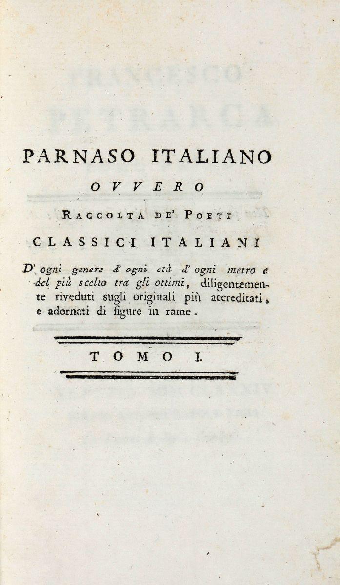 Rubbi Andrea. Parnaso Italiano... Tomo I [-LVI]. Venezia: Presso Antonio Zatta e figli, 1784-179