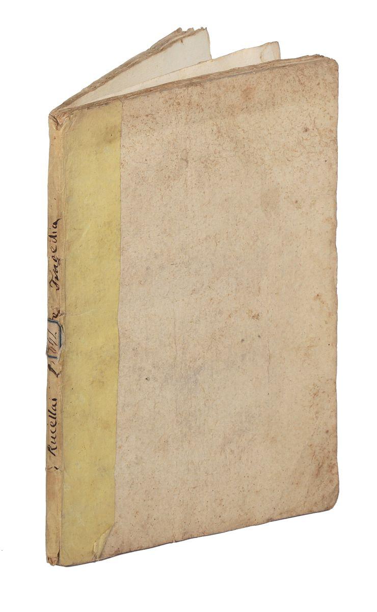 Rucellai Giovanni. L'Oreste... Verona: Presso Dionisio Ramanzini, 1764