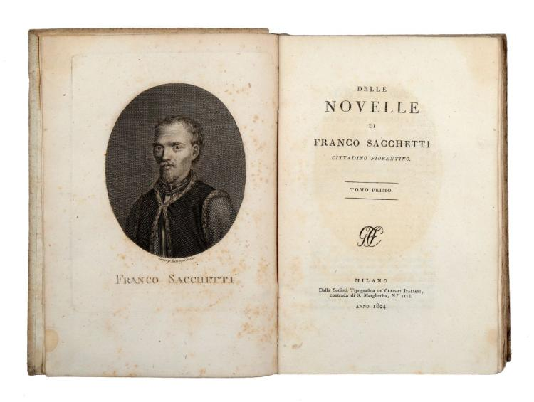 Sacchetti Franco. Delle Novelle... Milano: Dalla Società Tipografica De' Classici Italiani, 1804-1805