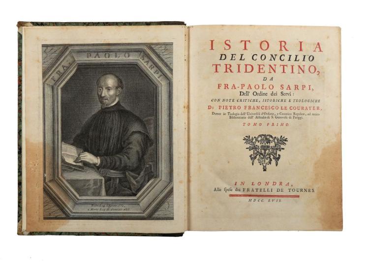 Sarpi Paolo. Istoria del Concilio Tridentino... Tomo Primo [-Secondo]. In Londra: Alle spese dei Fratelli De Tournes, 1757