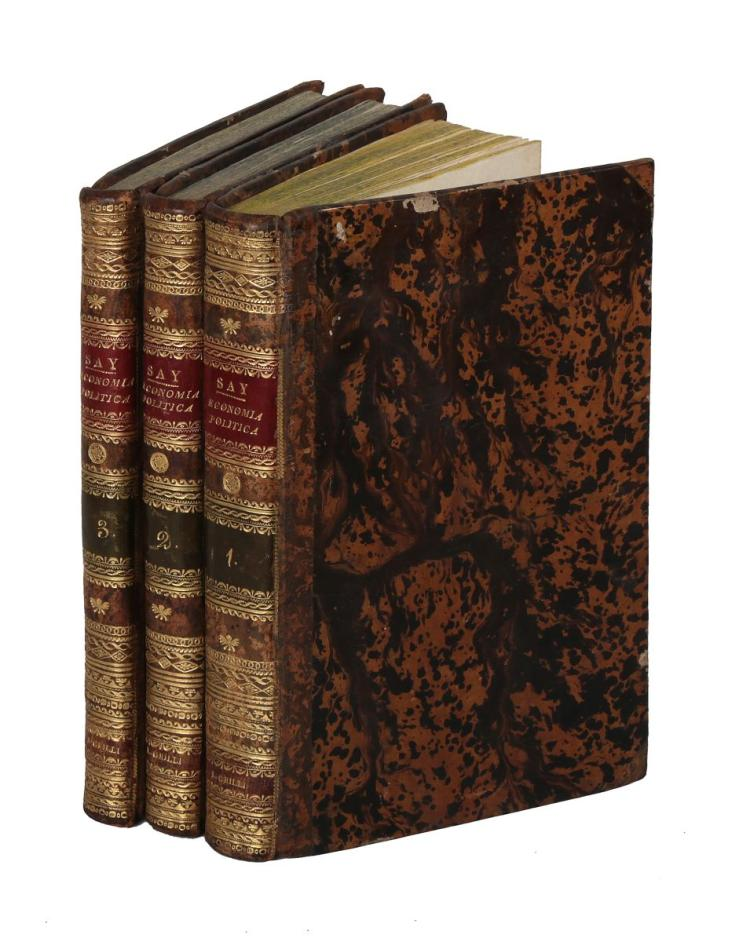 Say Jean-Baptiste. Trattato di Economia Politica... Tradotto dal francese. Napoli: Nella Stamperia del Ministero della Segreteria di Stato, 1817