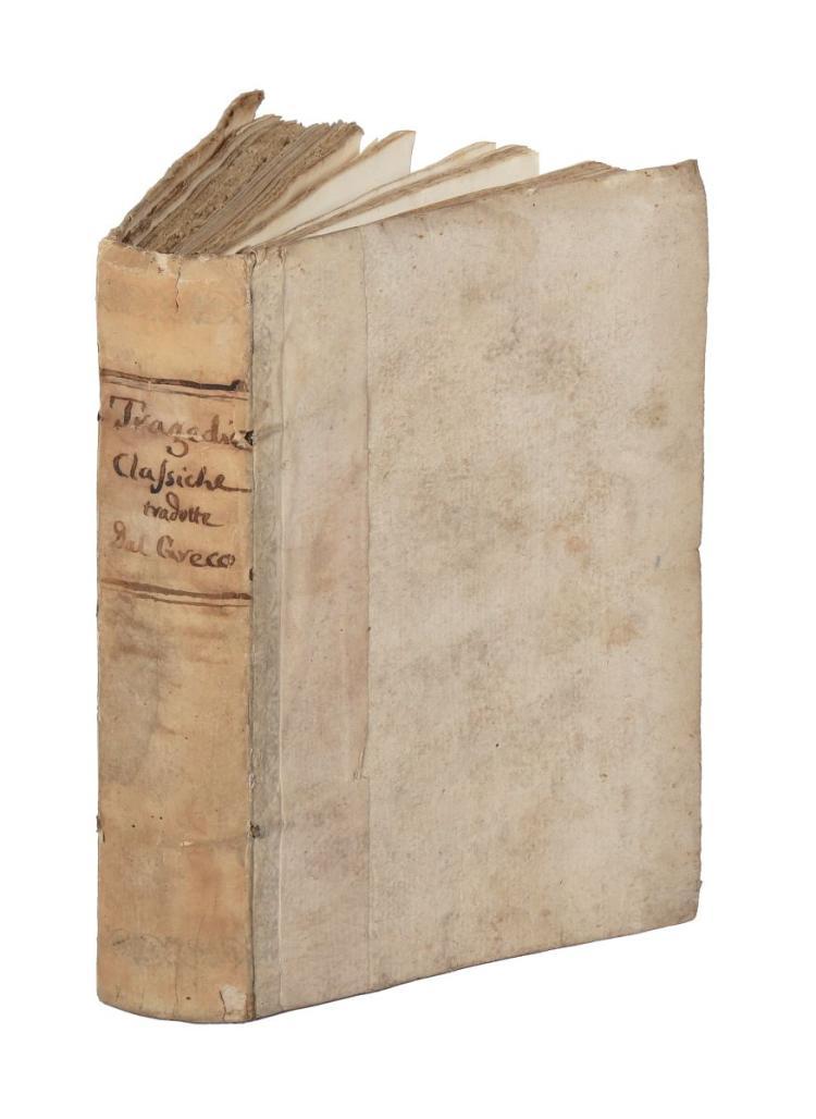 Sophocles. Edipo tiranno tragedia... Venezia: appresso Agostino Savioli, 1748