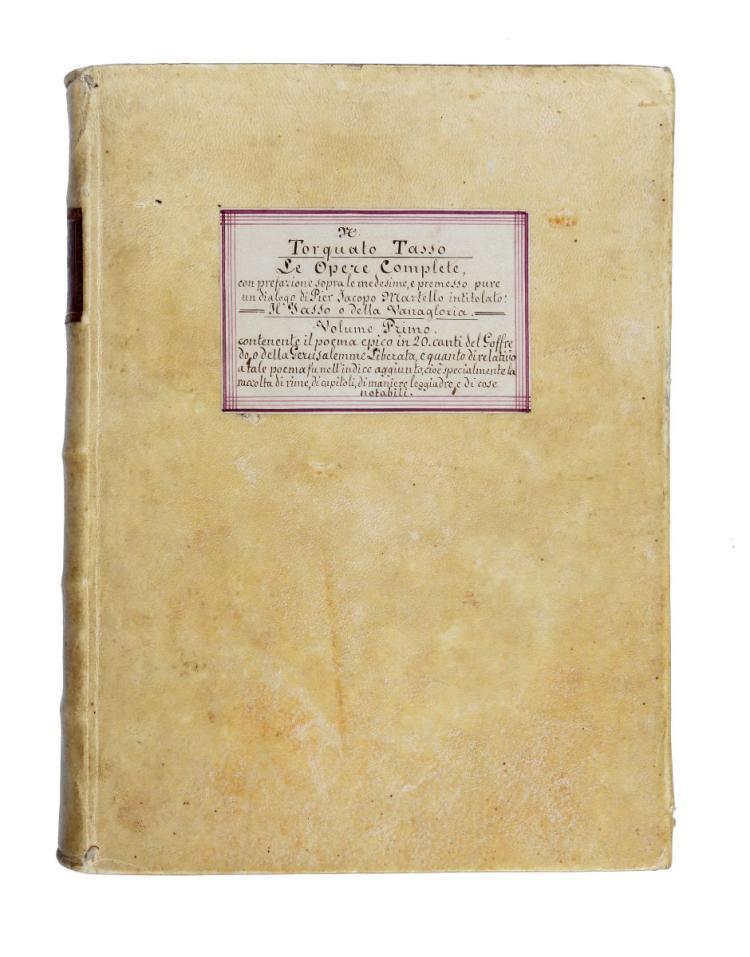 Tasso Torquato. Le Opere... Volume primo [-Duodecimo]. In Venezia: Presso Carlo Buonarrigo [poi Stefano Monti], 1722-1742