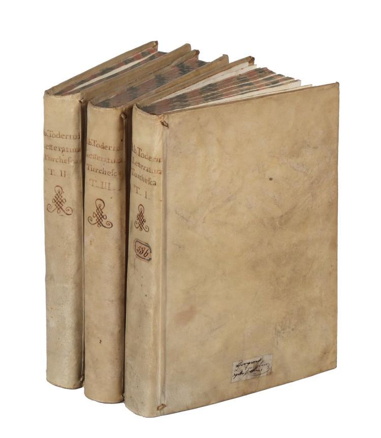 Toderini Giambattista. Letteratura turchesca Tomo I [-III]. In Venezia: Presso Giacomo Storti, 1787