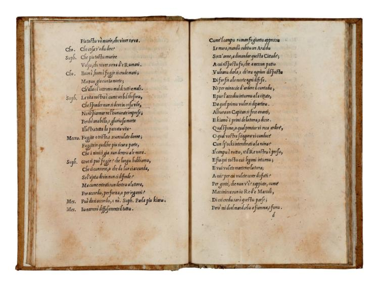 Trissino Gian Giorgio. La Sophonisba. (Al colophon:) Stampata in Vicenza: per Tolomeo Ianiculo, 1529