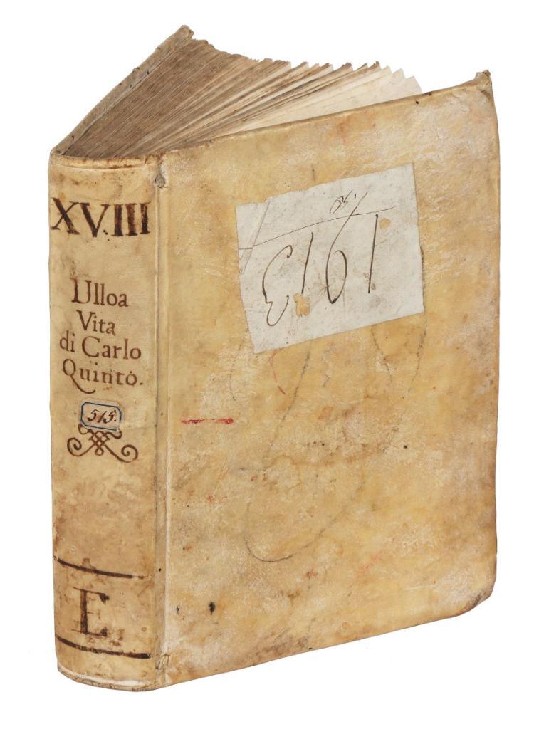 Ulloa Alfonso (de). Vita dell'invittissimo, e sacratissimo imperator Carlo V... In Venetia: appresso Domenico Farri, 1589
