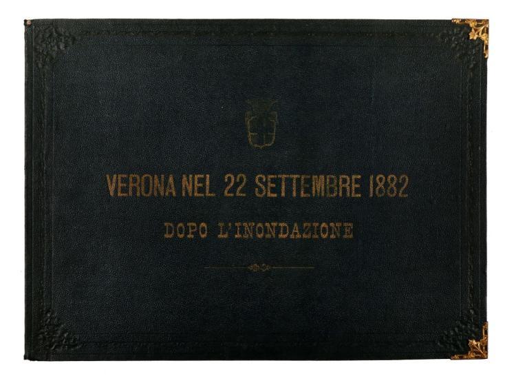 Verona. Verona nel 22 settembre 1882 dopo l'inondazione. [Verona: 1882]