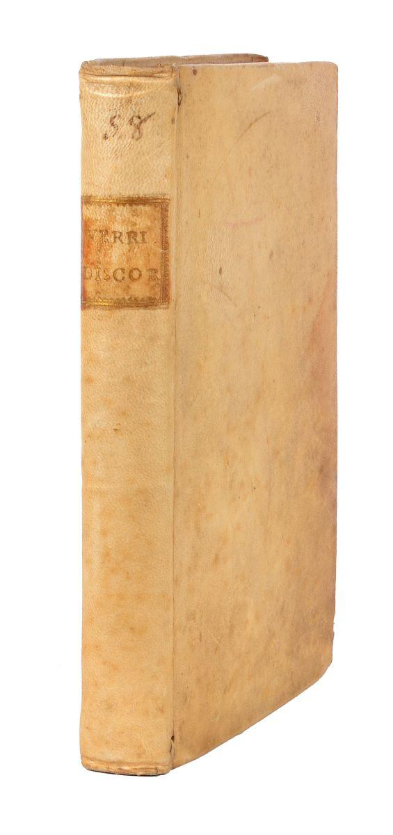 Verri Pietro. Discorsi... Sull'indole del Piacere e del Dolore...  In Milano: presso Giuseppe Marelli, 1781