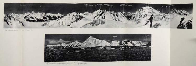 Desio Ardito. La spedizione Geografica Italiana al Karakoram (1929 - VII E.F.)... Milano-Roma: S.A. Arti Grafiche Bertarelli, 1936