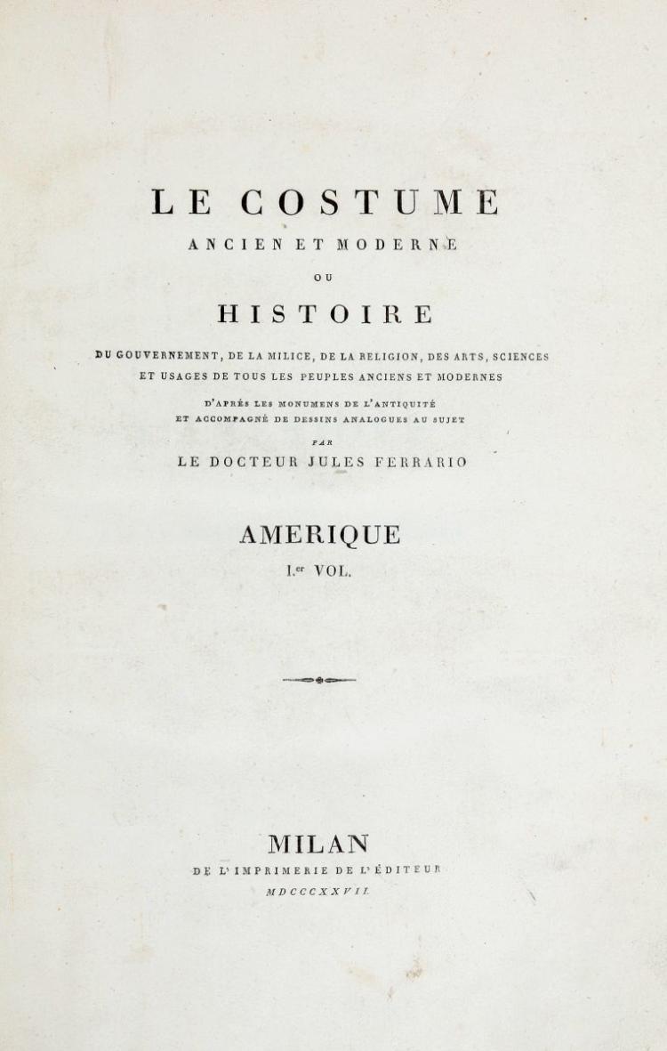 Ferrario Giulio. Le costume ancien et moderne... Milan: de l'imprimerie de l'éditeur, 1818-1834