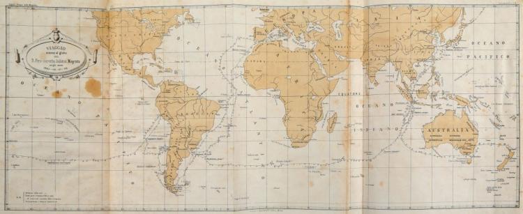 Giglioli Enrico Hillyer. Viaggio intorno al globo della R. Pirocorvetta Italiana... Milano: V. Maisner e Compagnia, 1875
